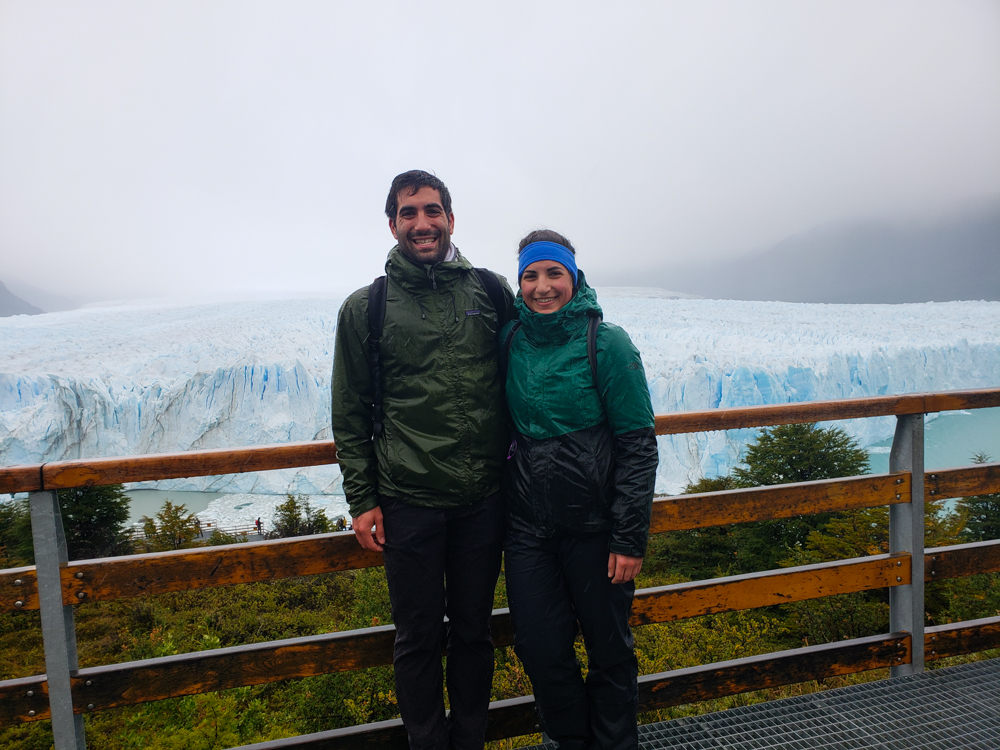 Mike and me with the prettiest glacier backdrop
