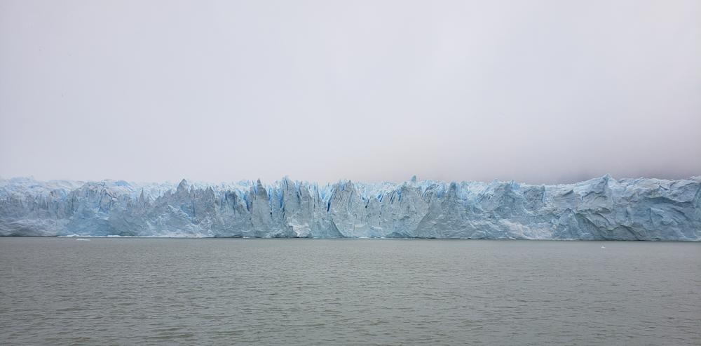 Glacier boat view