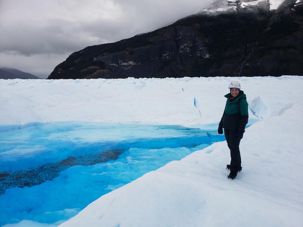 Me with a glacier lake