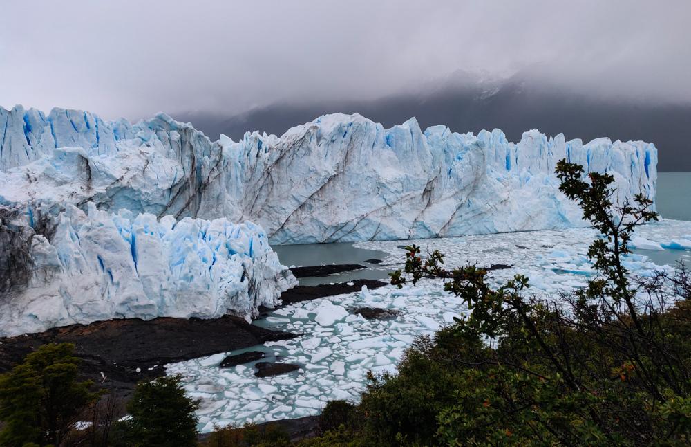 Closer view of the glacier
