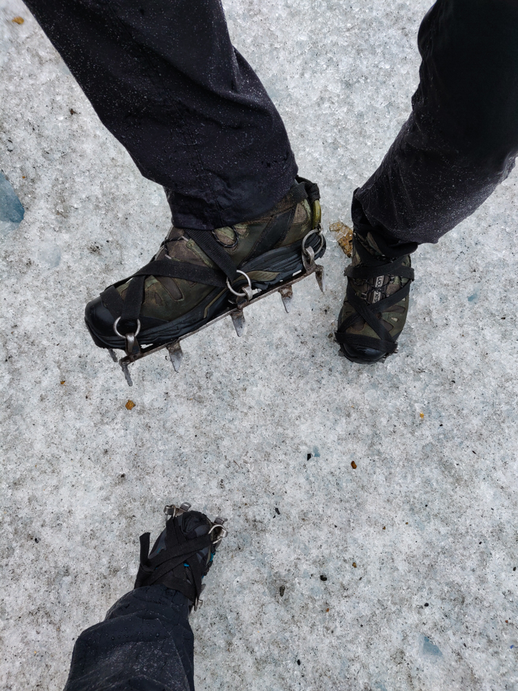 Mike's crampons