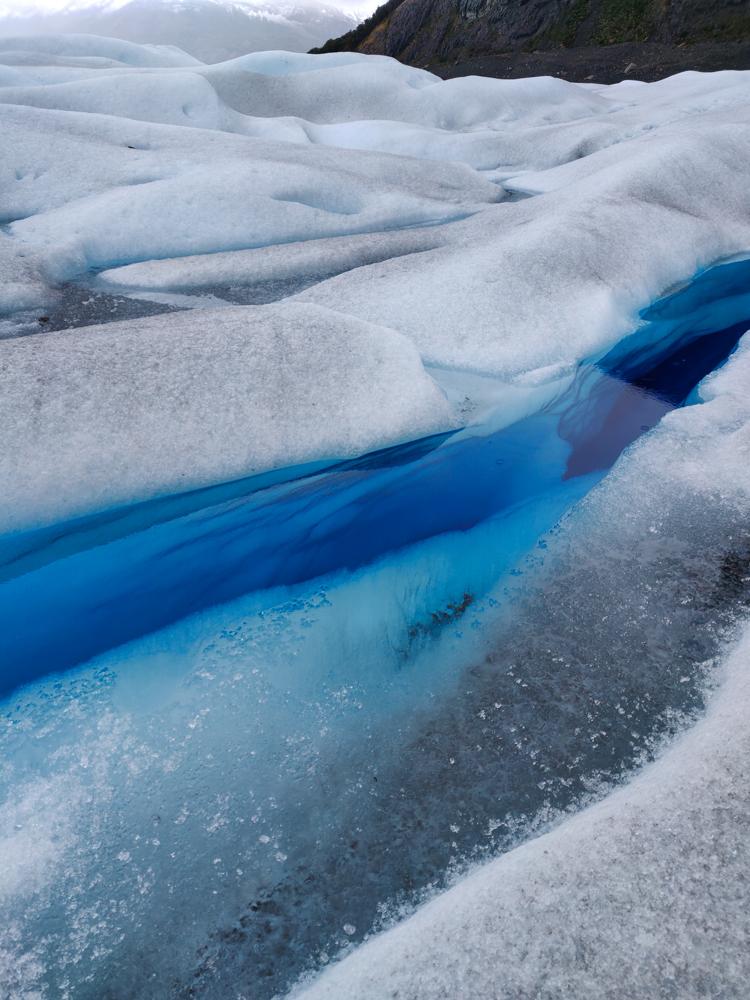 Awesome glacier crack