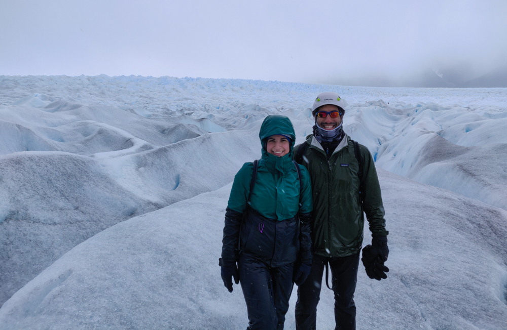 Me and Mike on the glacier