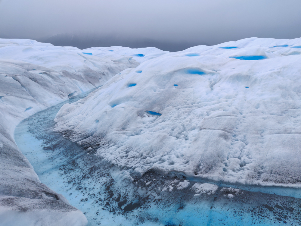 A glacier river