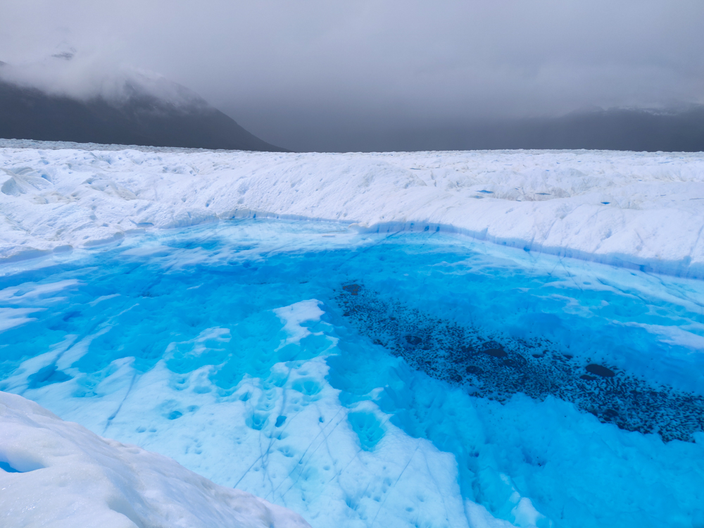The largest glacier lake we saw
