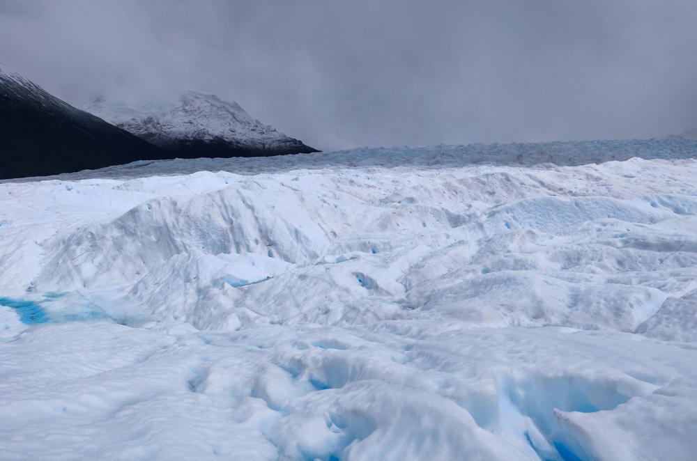 The glacier in the sun