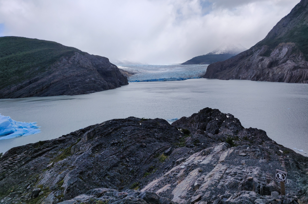 View of Grey Glacier and Lake Grey