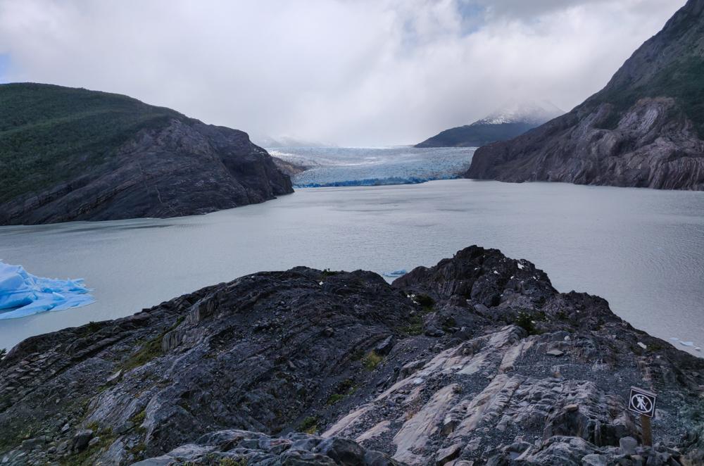 View of Grey Glacier and Lake Grey