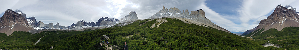 Panoramic photo at the Britanico viewpoint