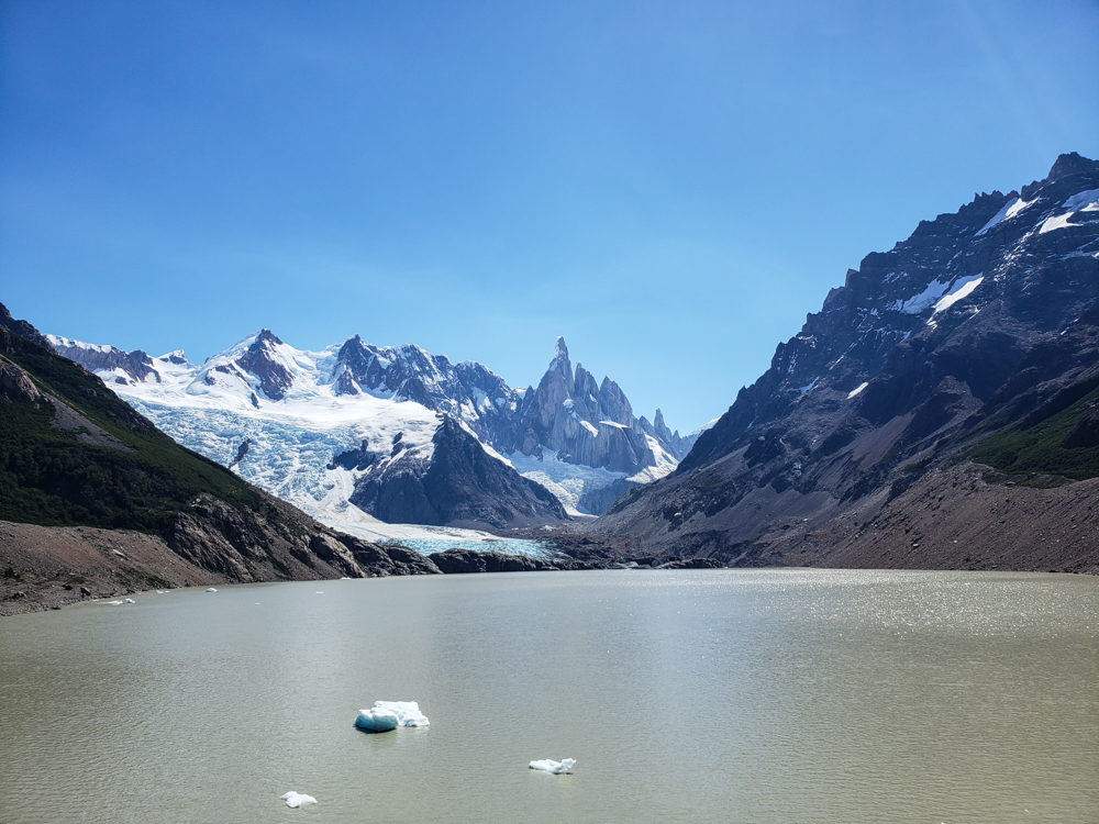 Laguna Torre with the glacier in the background