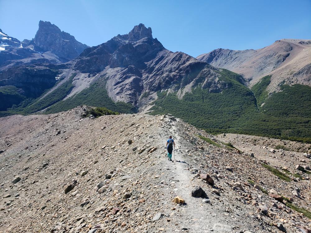 Me walking along a ridge