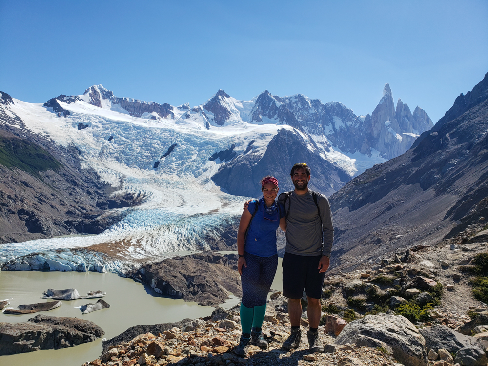 Me and Mike with the glacier in the background