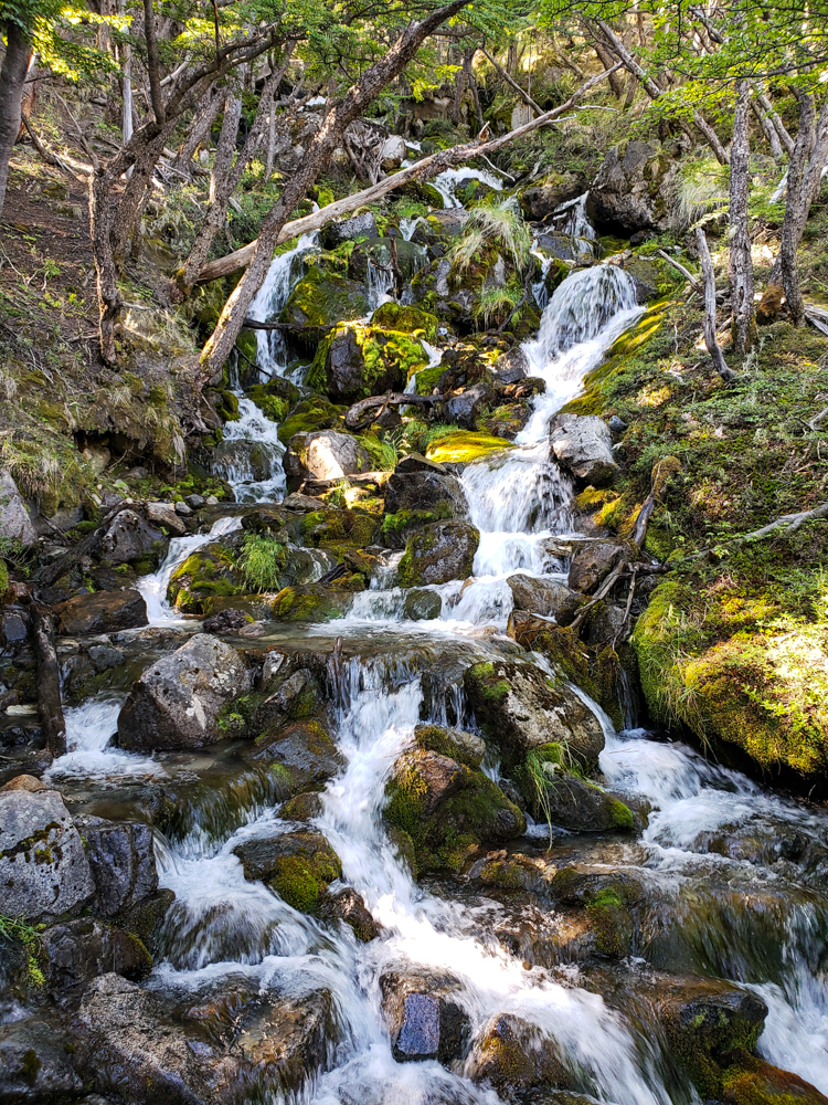 Little waterfall along the trail