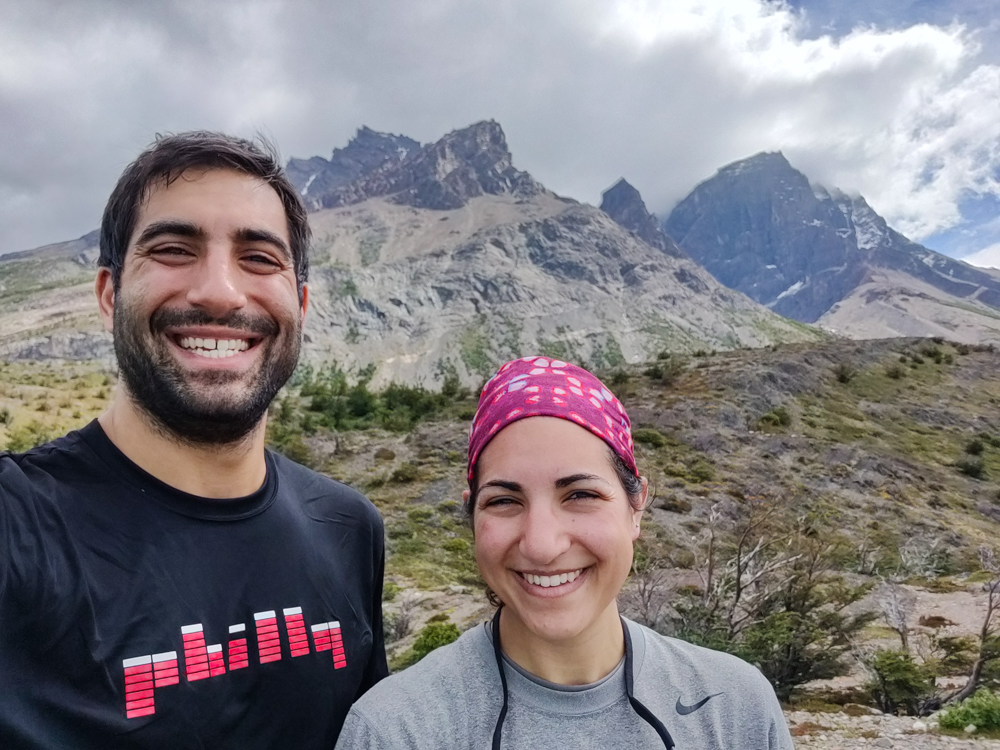 Mike and me with a mountain backdrop