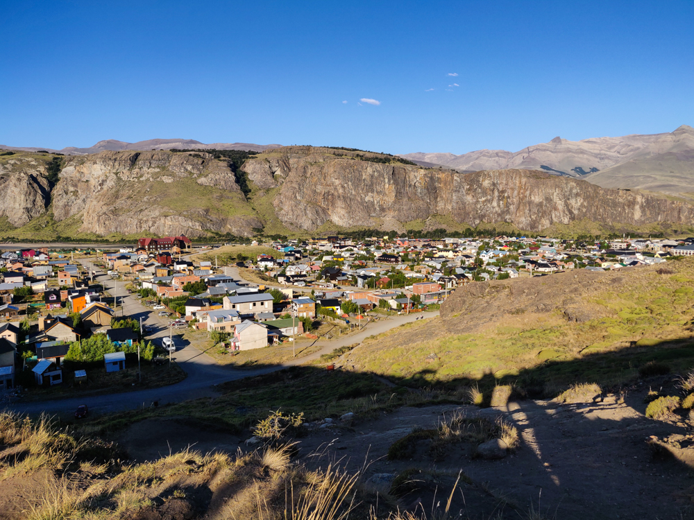 View of El Chalten from above