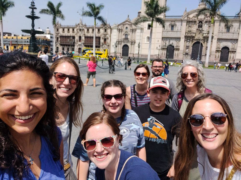 Selfie in Lima's Plaza de Armas