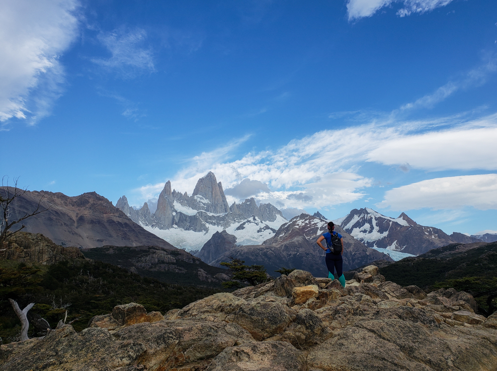 Me gazing at Fitz Roy from the viewpoint