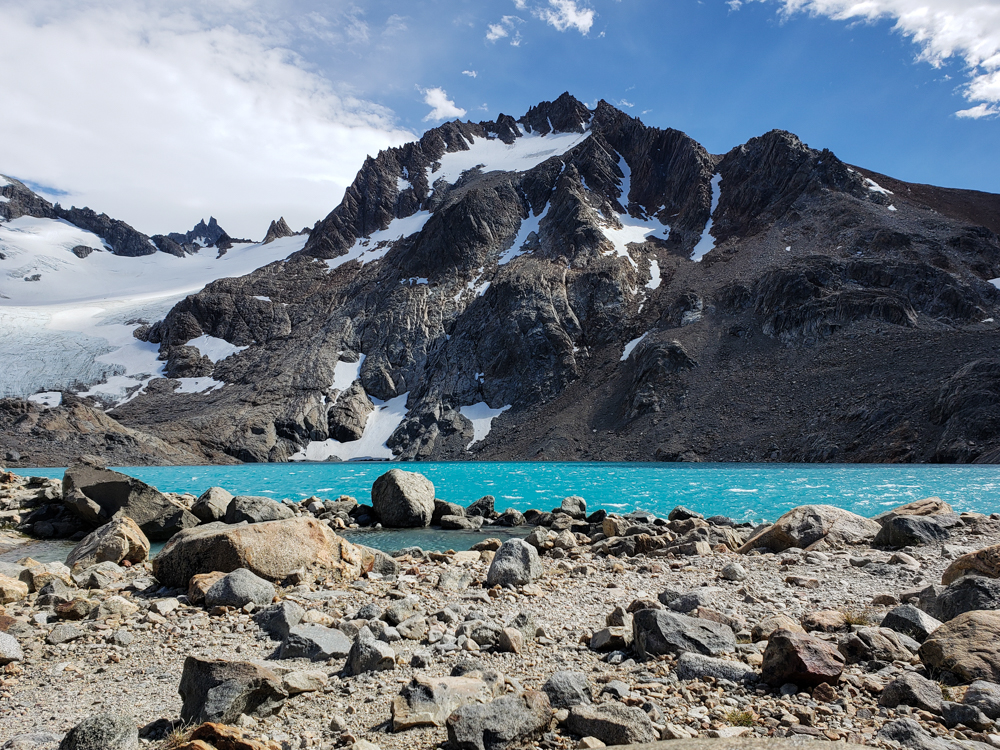 Super aqua waters of Laguna de los Tres