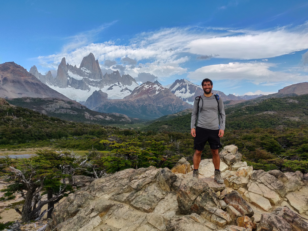 Mike with Fitz Roy