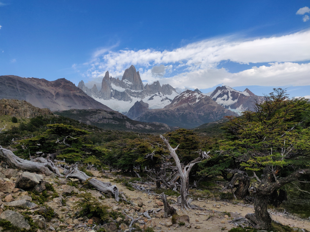 Fitz Roy and the rest of the mountains