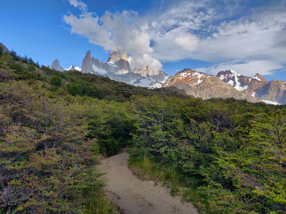 Fitz Roy with some cloud cover