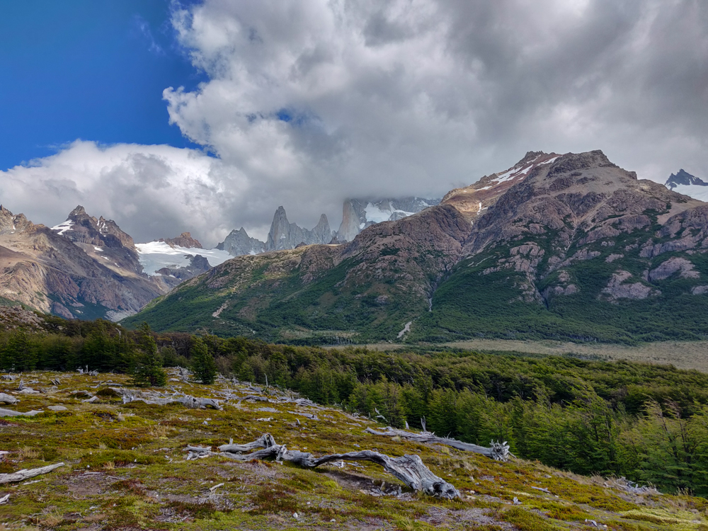 Fitz Roy blocked out by clouds