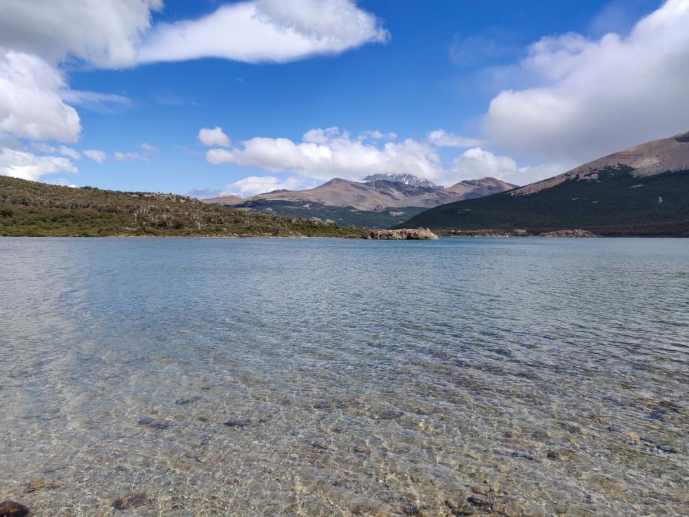 The clear waters of Laguna Capri