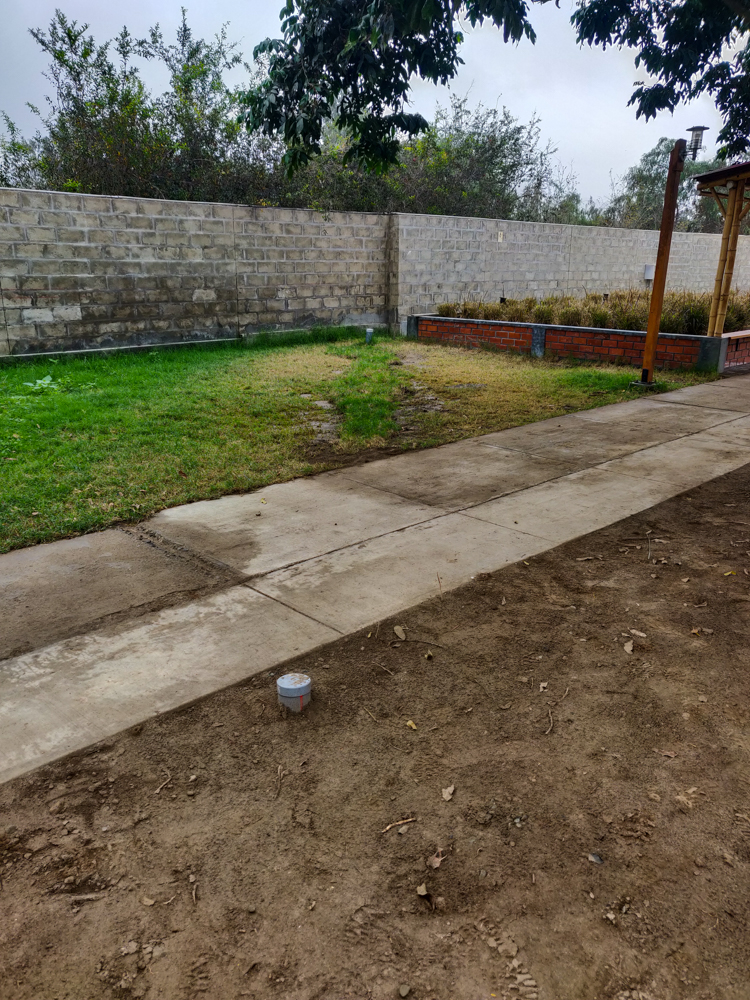 The last stretch of septic pipe