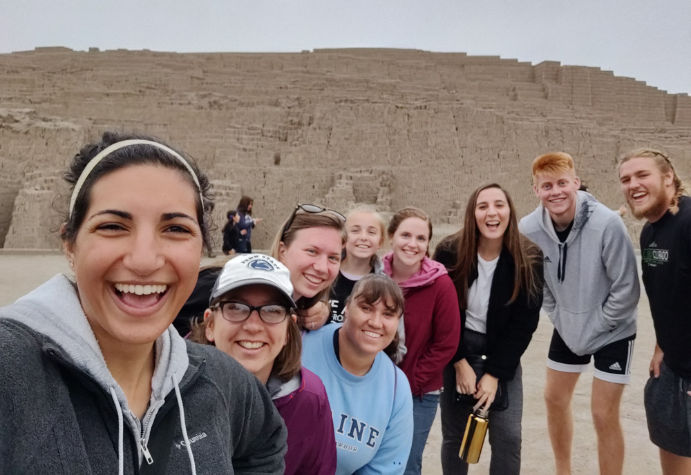 Selfie with Pleasant Ridge at Huaca Pucllana