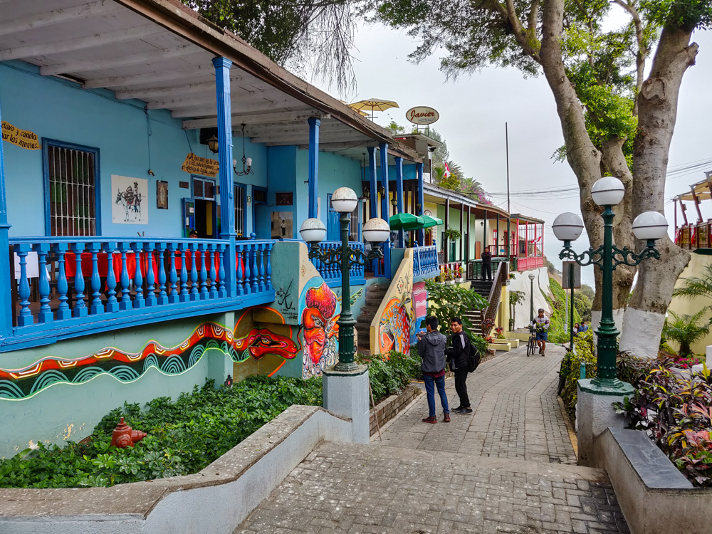 Colorful Barranco buildings