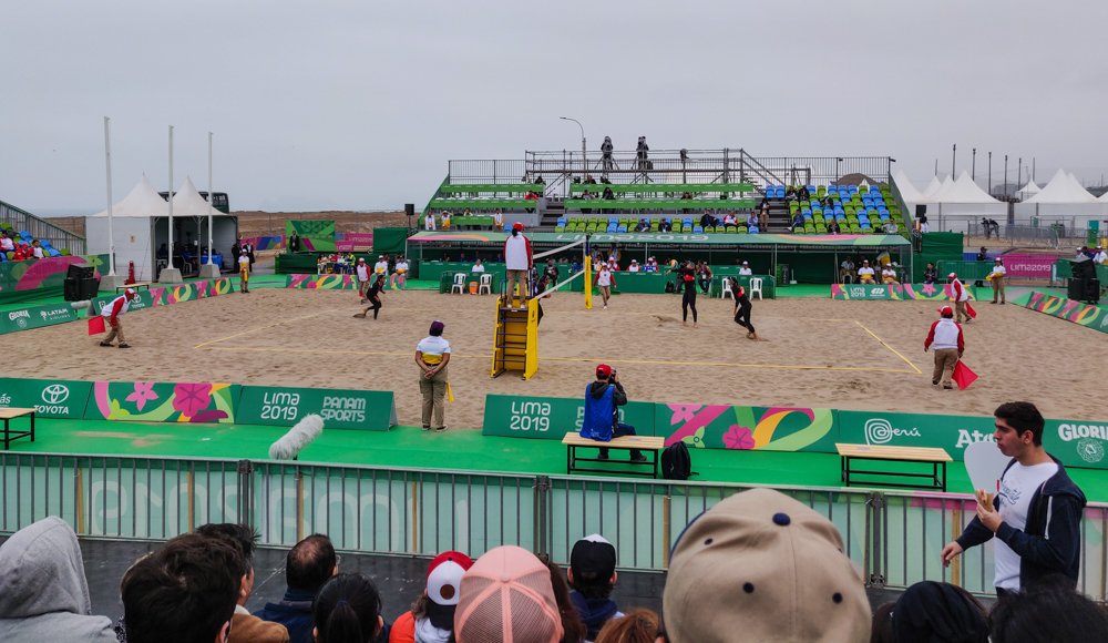 USA vs. Paraguay beach volleyball game