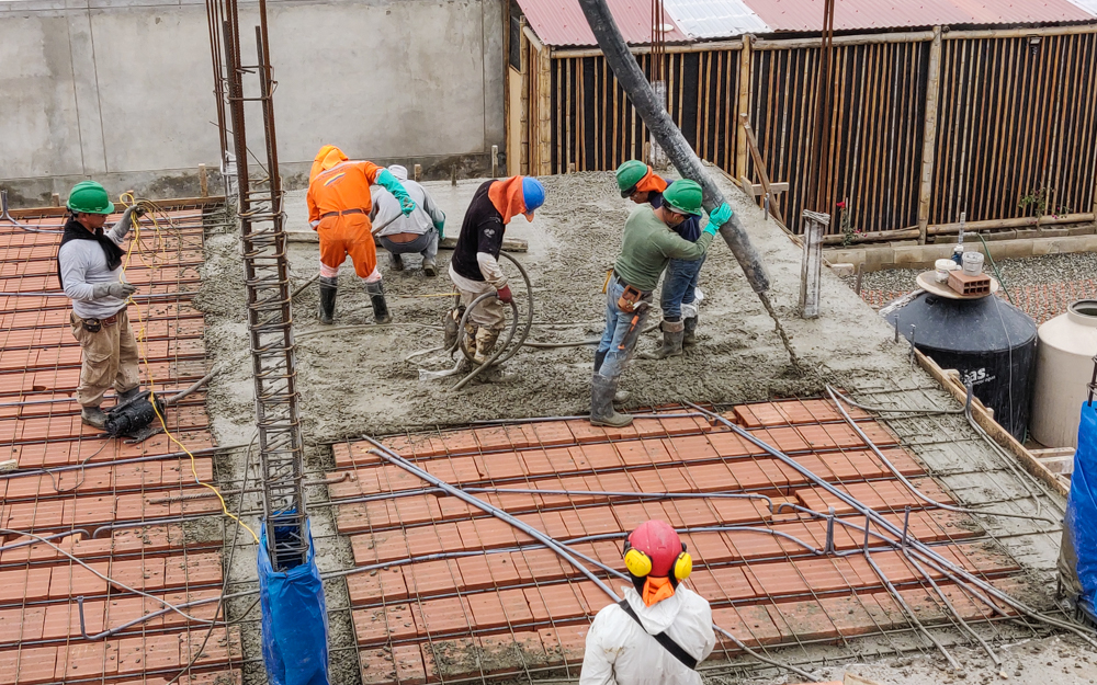 The concrete pour